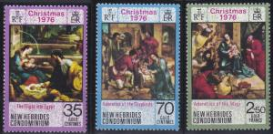New Hebrides - British Issues 211-213 MNH (1976)