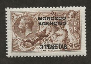 GREAT BRITAIN OFFICES - MOROCCO SC# 55a  FVF/MOG 1914