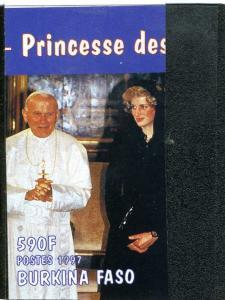 Burkina-Faso,Pope John Paul II,Stamp Imperforated mnh.vf