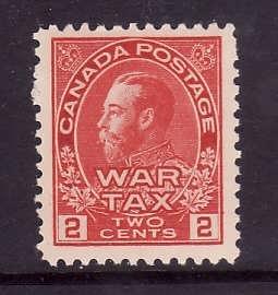 Canada-Sc#MR2a-Unused 2c rose carmine war tax-KGV-og-NH-1915-Cdn741-