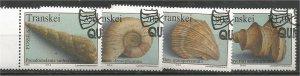 TRANSKEI, 1992, CTO Complete set, Fossils, Scott 279-282