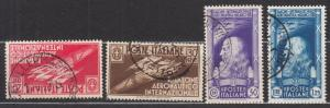 Italy - 1935 Aeronautical Salon Sc# 345/348 (7262)