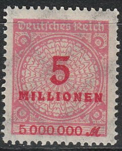 Stamp Germany Reich Mi 317A Sc 285 1923 Inflation Number Rosette Basket MH