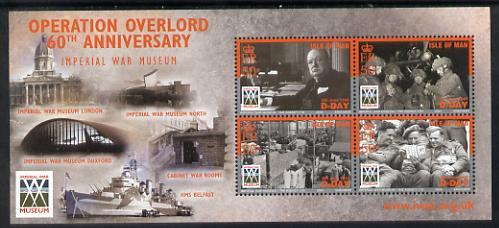 Isle of Man 2004 60th Anniversary of D-Day perf m/sheet u...