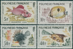 French Polynesia 1962 Sc#199-202,SG24-27 Fish set MNH