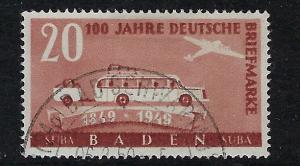 Germany - under French occupation Scott # 5N44, used