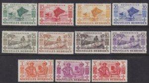 New Hebrides (Fr) 1953 SC 83-93 MNH Set