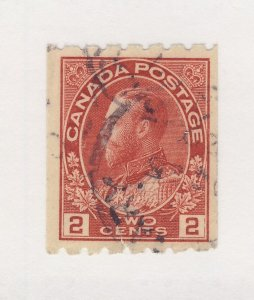Canada WW1 Admiral Coil Stamp #123-2c Perf 12x8 Used F/VF Guide Value = $70.00