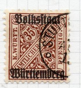 Wurttemberg 1919 Official Early Issue Fine Used 35pf. Optd 291500