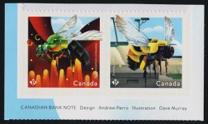 Canada 3099-3100 MNH Native Bees