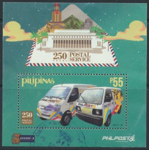 Philippines  2017 Post Service Anniversary Miniature Sheet Used see and scan