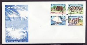 Anguilla, Scott cat. 502-505. 75th Scout Anniversary issue. First day cover.