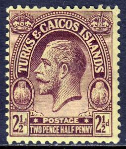 Turks and Caicos Islands - Scott #49 - MH - Mult. Script CA Wmk - SCV $0.65