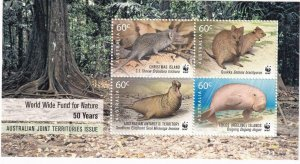 CHRISTMAS ISLAND WORLD WIDE FUND FOR NATURE S/SHEET MNH