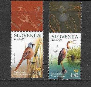 BIRDS - SLOVENIA #1336-7  MNH