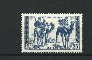 MAURITANIA  1938 - 40  25C  BRIGHT BLUE           MH