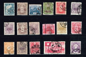 JAPAN STAMP OLD USED STAMPS COLLECTION LOT  #M2