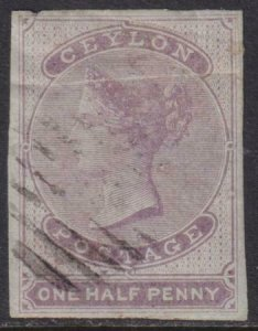 Ceylon 1858 SC 15 Used