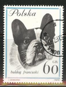 Poland Scott 1119 Used CTO Dog stamp