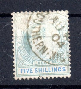 Lagos KEVII 1904 5/- fine CDS used #52 WS15400