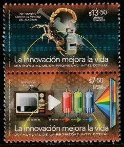 MEXICO 3050a World Day of Intelectual Property, se-tenant pair. MNH