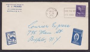 US Sc 807 on 1951 Camel Cigarettes & Prince Albert Tobacco Advertising Cover