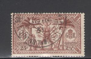 British New Hebrides 1925 Native Idols Scott # 44 Used