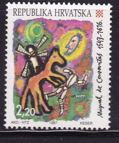 Croatia 1997 Great Europeans  Printing  VF/NH