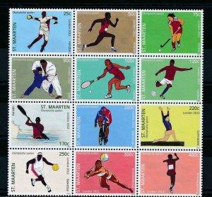 [SM088] St. Martin Maarten 2012 Olympic Summer Games MNH