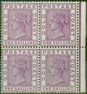 Gold Coast 1884 1s Brt Magenta SG18a V.F MNH & VLMM Block of 4