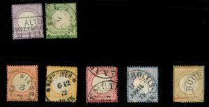 momen: Germany Stamps #1-6 Eagle Set Used VF App.