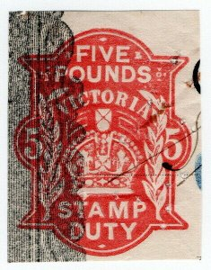 (I.B) Australia - Victoria Revenue : Impressed Duty £5