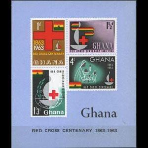 GHANA 1963 - Scott# 142a S/S Red Cross Imp. NH