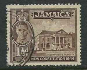 Jamaica -Scott 129b - KGVI Definitive -1946 - Used - Single 1.1/2p Stamp