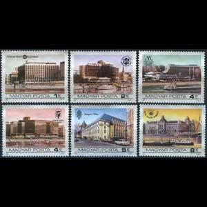 HUNGARY 1984 - Scott# 2863-8 Hotels Set of 6 NH