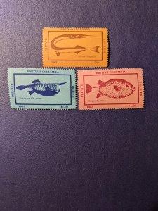 Canada - British Columbia Private Courier Cinderellas Fish Set VF-NH, CV $35.25
