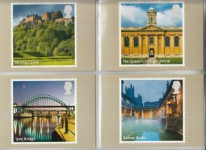 2012 UK Landmarks A-Z Part 2, SET OF 14 x PHQ Stamp Cards,  FDI Special H/S Back