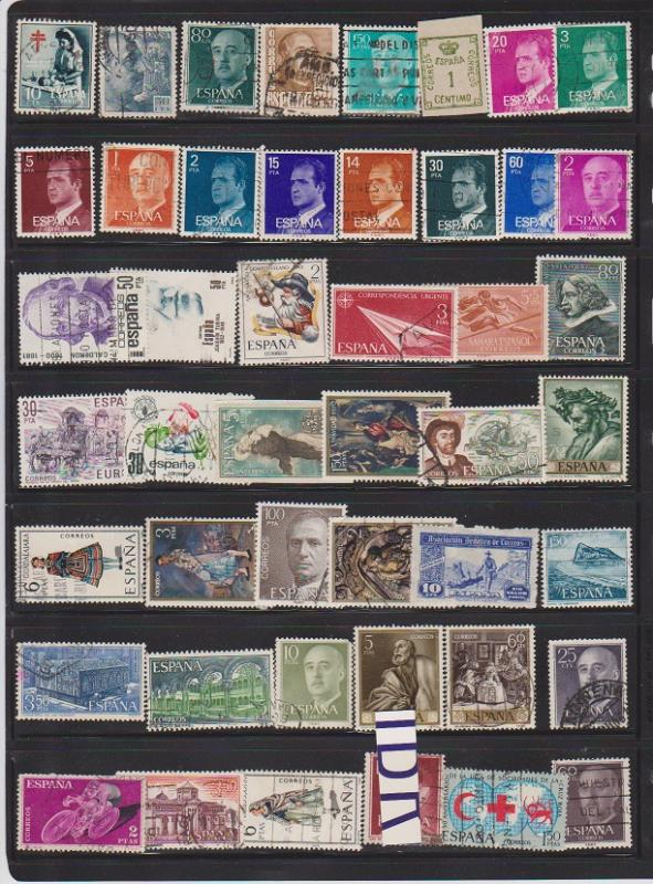 LOT OF DIFFERENT STAMPS OF SPAIN USED (46) LOT#123