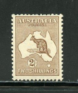 AUSTRALIA  SCOTT #52, SG #41 KANGAROO  MINT LIGHT HINGED--SCOTT $325.00 SG275 Pd