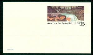 #UX133 America the Beautiful Postal Card - Mint