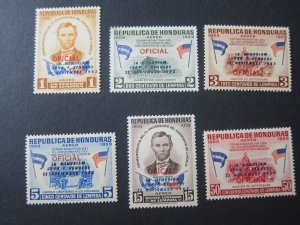 Honduras 1964 Sc C325-30 John F Kennedy set MNH