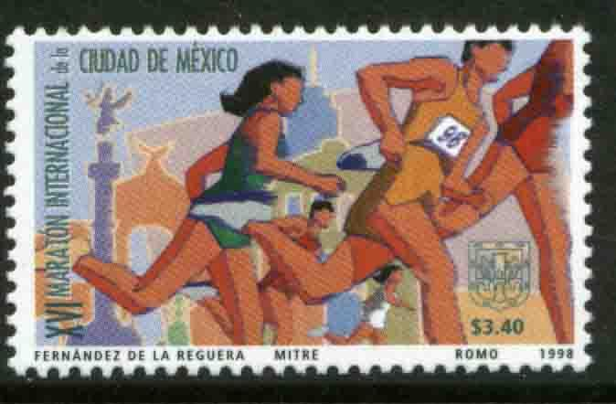 MEXICO 2091, 16th Mexico City Marathon. MINT, NH, VF. (69)