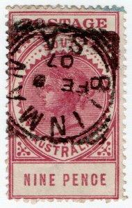 (I.B) Australia - South Australia Postal : 9d Rosy Lake (SG 286a)