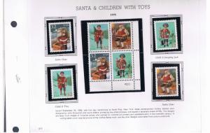 #3004-3007 MNH OG block of 4 & singles Christmas Free S/H