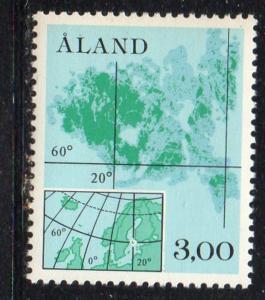 Aland Finland Sc 17 1984 3.0m Scandinavian Map stamp mint NH
