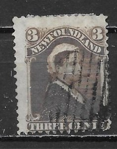 Newfoundland 51 Queen Victoria Single Used (z5)