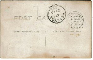 British Virgin Islands 1914 postcard Paid at Tortola cancel, SG CC2 750 pounds