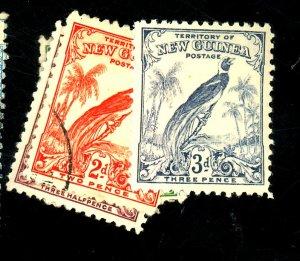 NEW GUINEA 331-3 35 USED & MINT FVF OG HR Cat $12