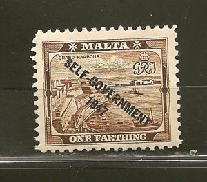 Malta 208 Self Government 1947 Mint Hinged