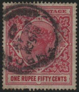 CEYLON-1899-1900 1r50 Rose Sg 263 AVERAGE USED V40468